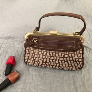 Tommy Hilfiger small brown purse